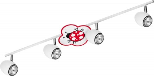 Lampa dla dziecka Biedronka - Fly biały/ chrom 4x50W GU10
