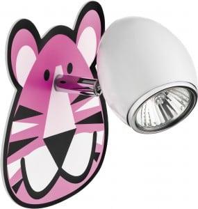 Lapma dla dziecka Tygrys - kinkiet Lenny biały/ chrom LED 4,5W GU10