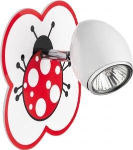 Lampa dla dziecka Biedronka - kinkiet Fly biały/ chrom LED 4,5W GU10