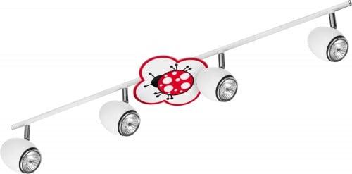 Lampa dla dziecka Biedronka - Fly biały/ chrom LED 4x4,5W GU10
