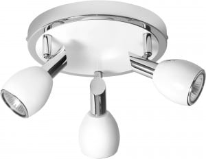 Lampa Sufitowa Reflektorki Biała Colors Chrom GU10