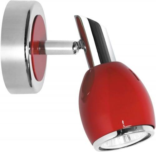 Chromowany Czerwony Reflektorek Colors LED GU10