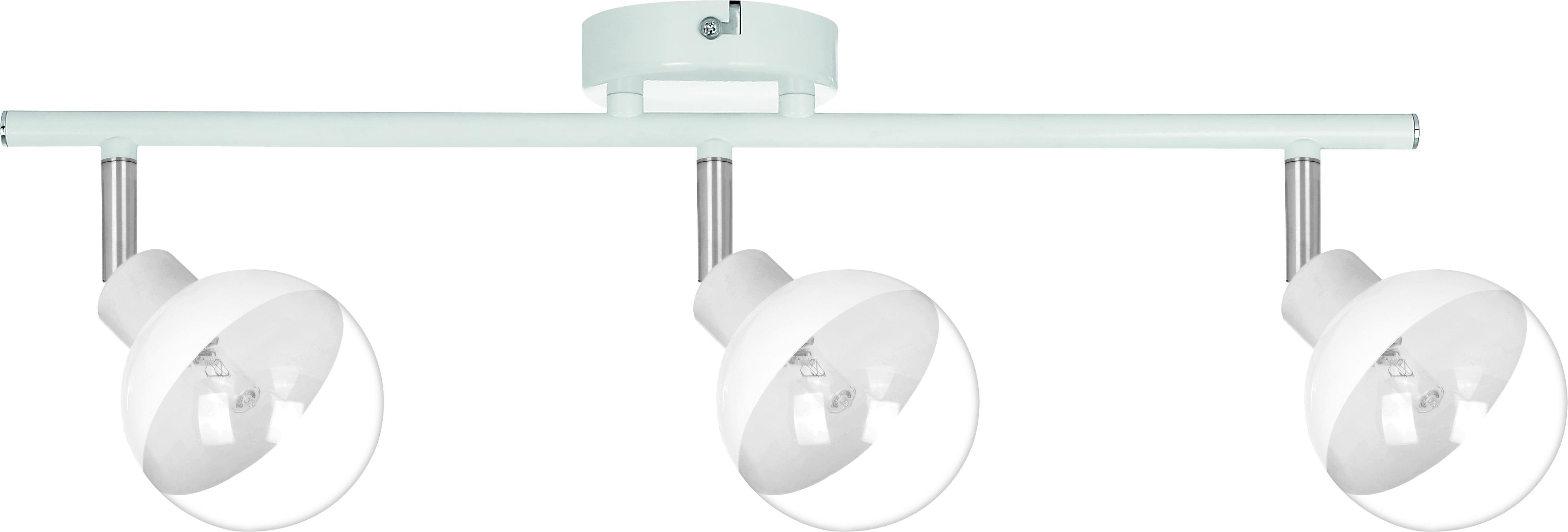 Szklany Reflektorek 3-punktowy Ginos biały/ chrom G9 28W