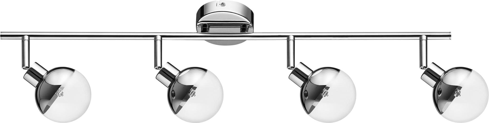 Nowoczesny Chromowany Plafon-Reflektor Ginos 4-punktowy G9 28W