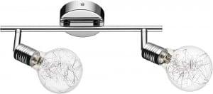 Lampa scienna sufitowa plafon bulbs chromowana g9 28w s