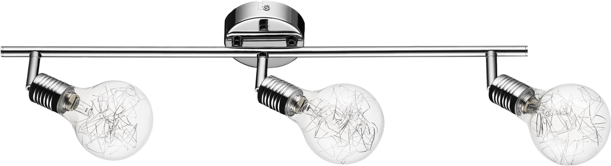 Nowoczesna Chromowana Listwa Plafon Spot Bulbs Szklane Kulki G9 28W