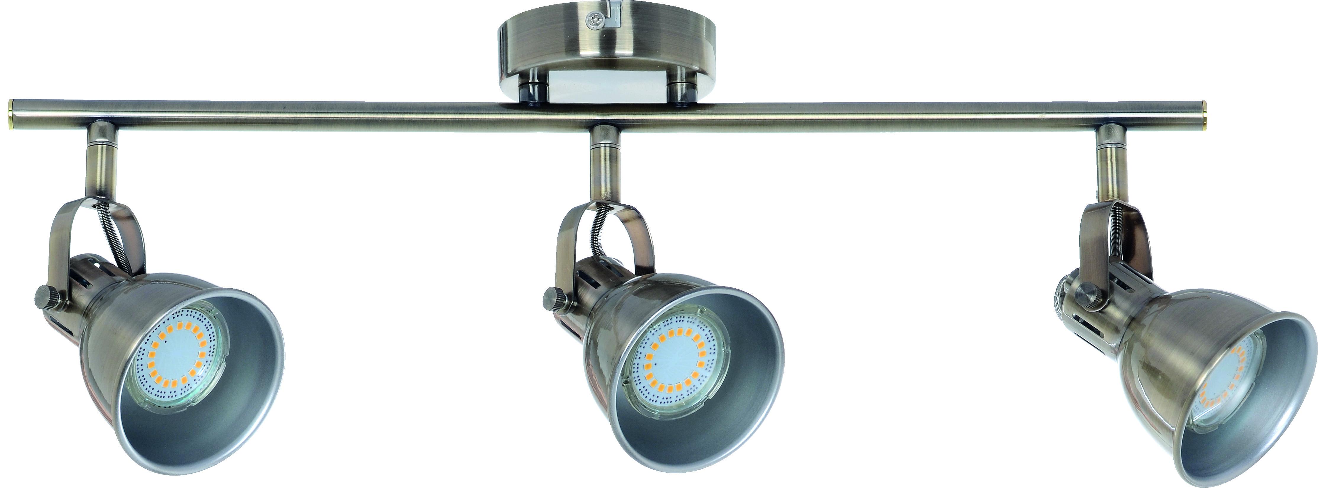 Reflektorki na Listwie 3-punktowe Pax patyna GU10 50W