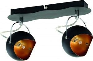 Reflektorki sufitowe Kana czarno złote G9 28W