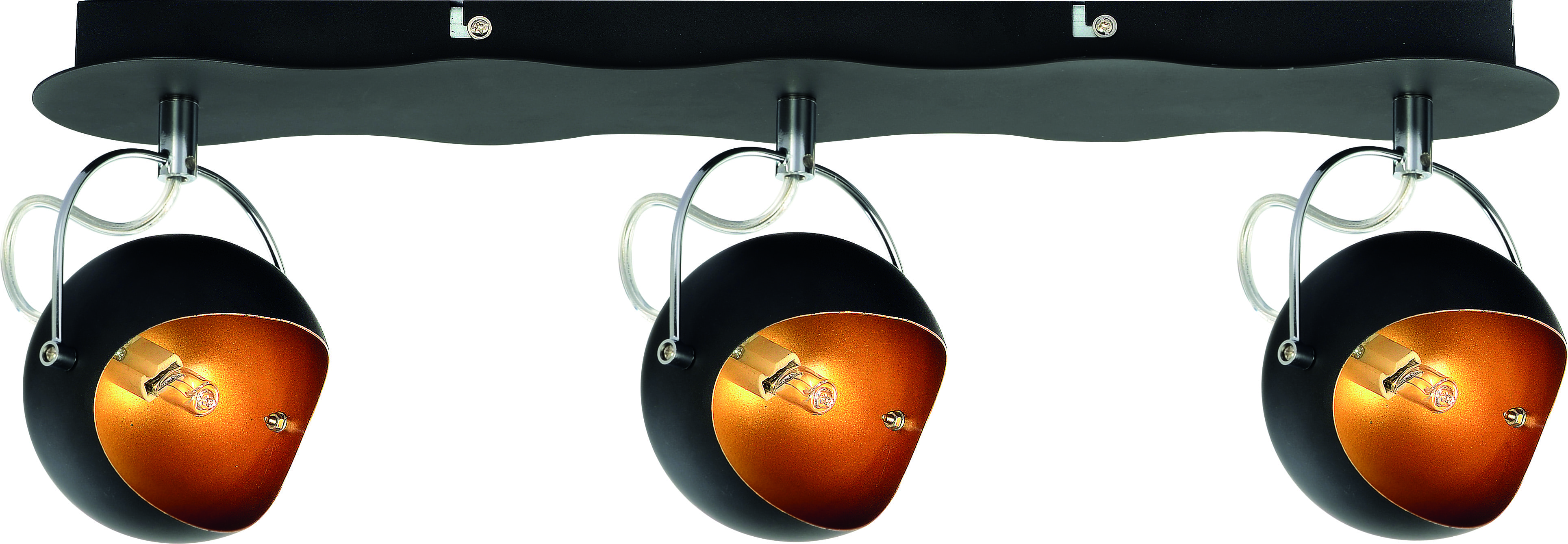 Czarne Reflektorki ze złotym środkiem G9 28W