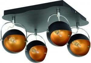 Lampa sufitowa Plafon Kana czarno złota G9 28W