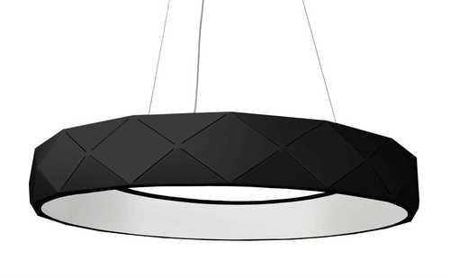 Reus LED wisząca czarna
