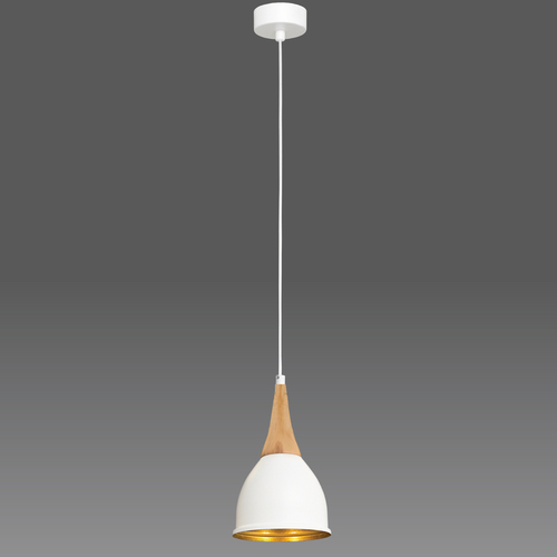 Biała lampa wisząca Aria 1