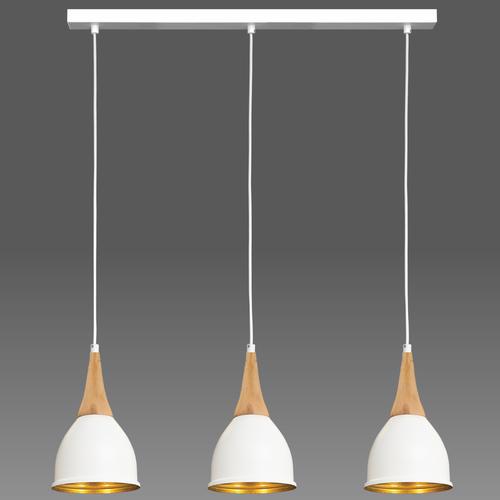 Biała lampa wisząca Aria 3