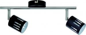 Reflektorki Listwa dwupunktowa Ulrika czarny/ chrom G9 28W