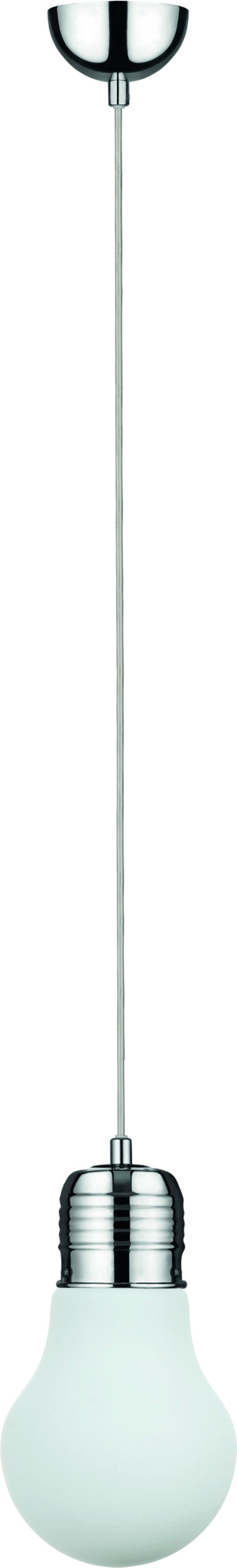 Lampa wisząca Bulb chrom/ biały E27 60W