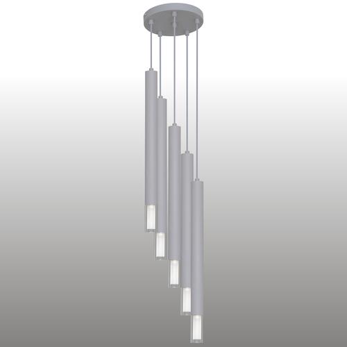 Szara lampa wisząca Kuga 5 XL