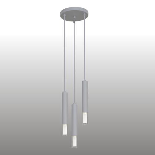 Szara lampa wisząca Kuga 3 M
