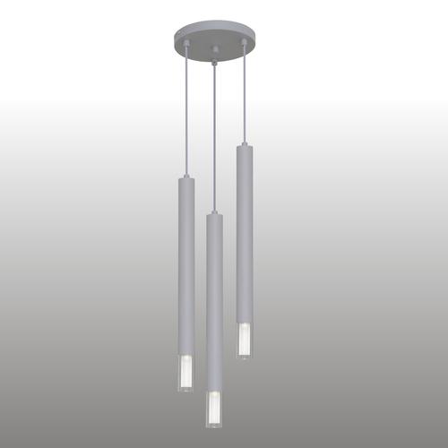 Szara lampa wisząca Kuga 3 XL