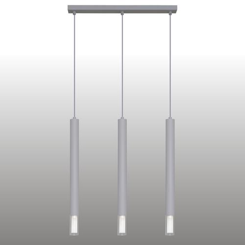 Szara lampa wisząca Kuga 3 XL listwa