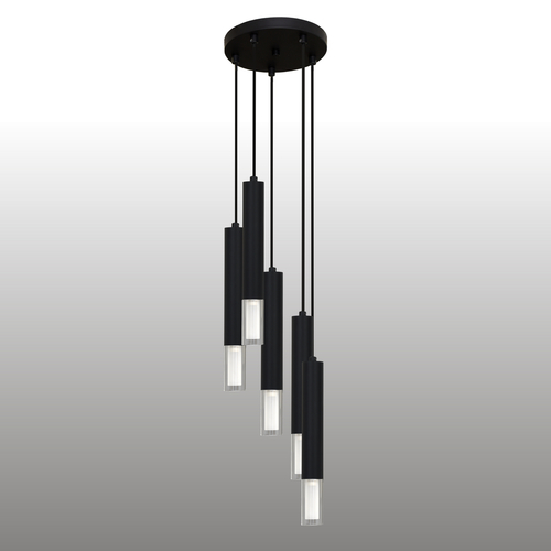 Czarna lampa wisząca Kuga 5 M