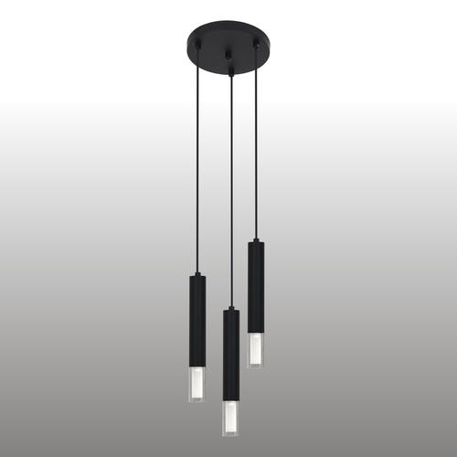 Czarna lampa wisząca Kuga 3 M