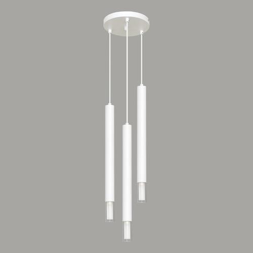 Biała lampa wisząca Kuga 3 XL