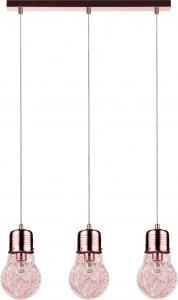 Lampa wisząca potrójna Bulb miedź E27 60W