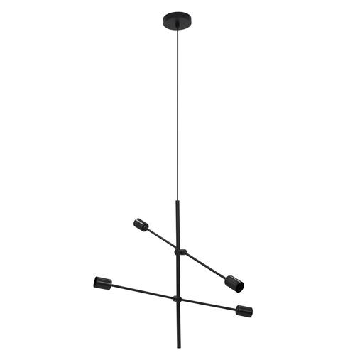 Czarna lampa wisząca Rotor 4
