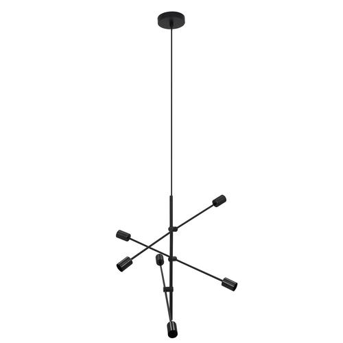 Czarna lampa wisząca Rotor 6