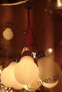 Lampa wisząca 7-punktowa Bulb chrom/ biały E27 60W small 1