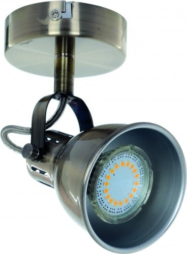 Kinkiet-Reflektorek Pax patyna GU10 LED 4,5 W