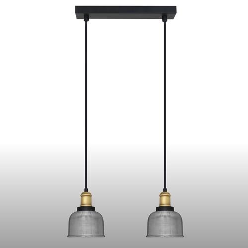 Srebrna lampa wisząca Omida 2 listwa