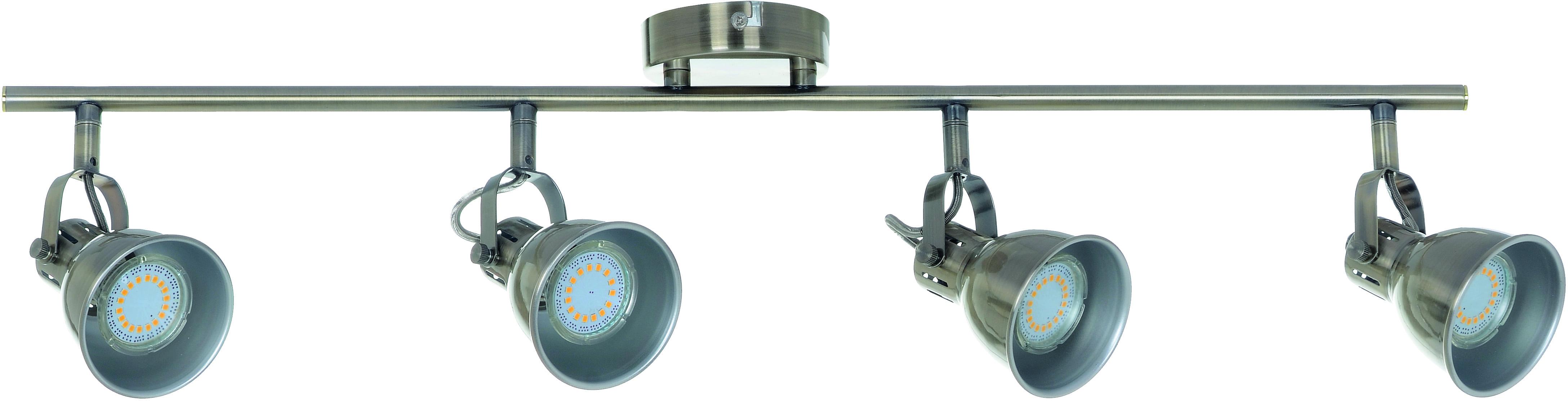 Poczwórne Reflektorki-Listwa spot Pax patyna GU10 LED 4,5 W