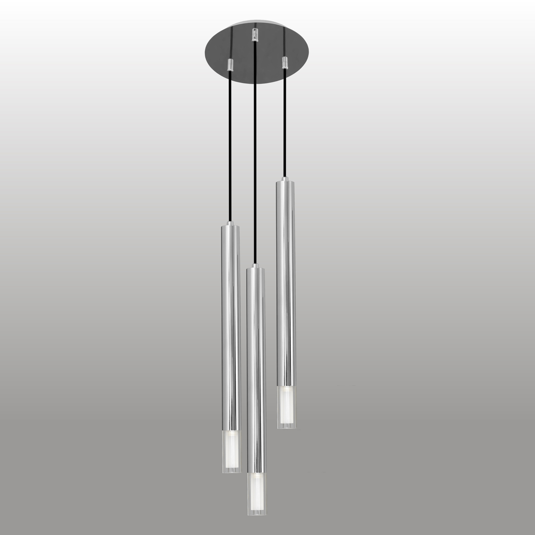 Lampa wisząca Kuga 3 XL chrom