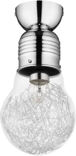 Loftowa Lampa sufitowa Bulb chrom E27 60W