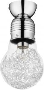 Loftowa lampa sufitowa bulb chrom e27 60w s