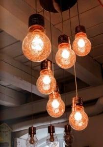 Loftowa Lampa wisząca Bulb miedź E27 60W small 1