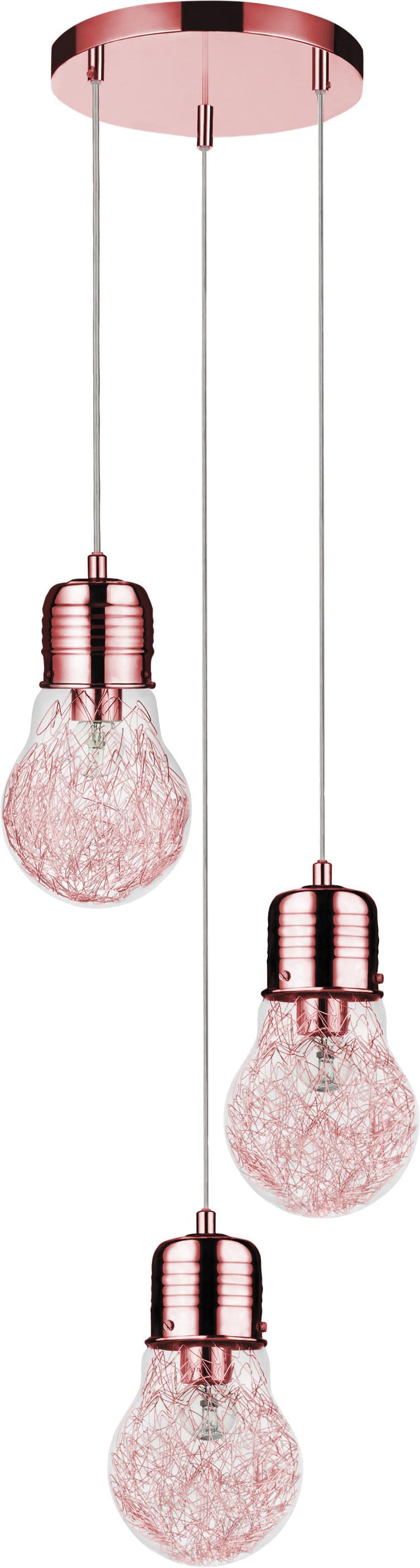 Loftowa Lampa wisząca Bulb miedź E27 60W