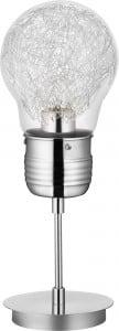 Industrialna lampa biurkowa Bulb chrom E27 60W