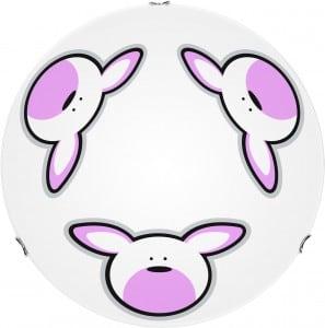 Plafon dla dziecka Królik - Rubby biały/ chrom LED 15W 40cm