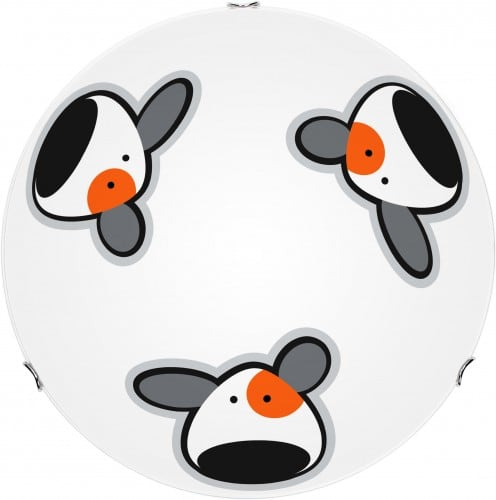 Plafon dla dziecka Piesek - Doggy biały/ chrom LED 12W 30cm