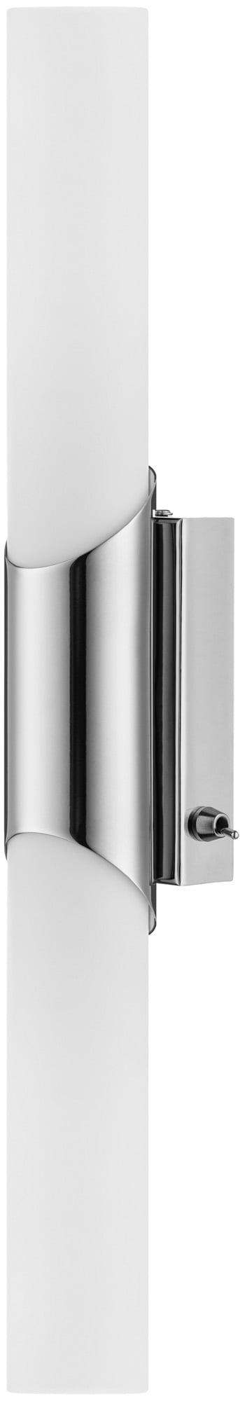 Podwójny Kinkiet Aquatic chrom/ biały 2xE14 40W