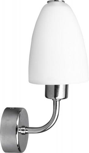 Stylowy kinkiet Aquatic chrom/ biały E14 40W