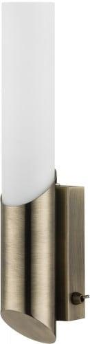 Patynowy kinkiet Aquatic patyna/ biały E14 40W
