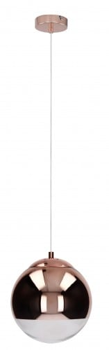 Miedziana Lampa wisząca Gino E27 60W