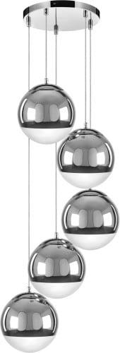 Ekskluzywna Zakręcona Lampa wisząca Gino chrom E27 60W