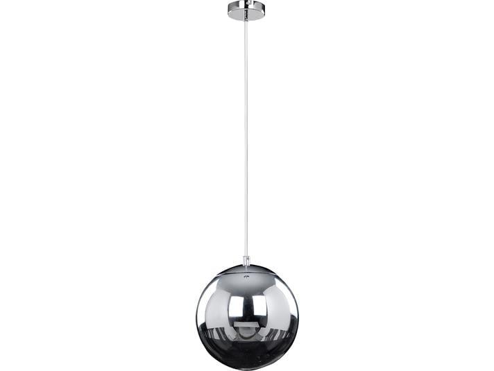 Chromowana lampa wisząca Gino biały/ czarny LED 3W
