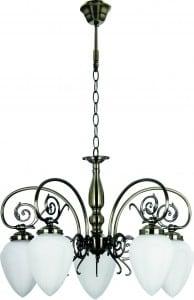 Klasyczny zyrandol do salonu bossa patyna 5 x e14 60w s