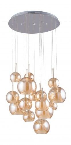 Wielopunktowa Lampa wisząca Bellissima chrom/ szampański G4 20W