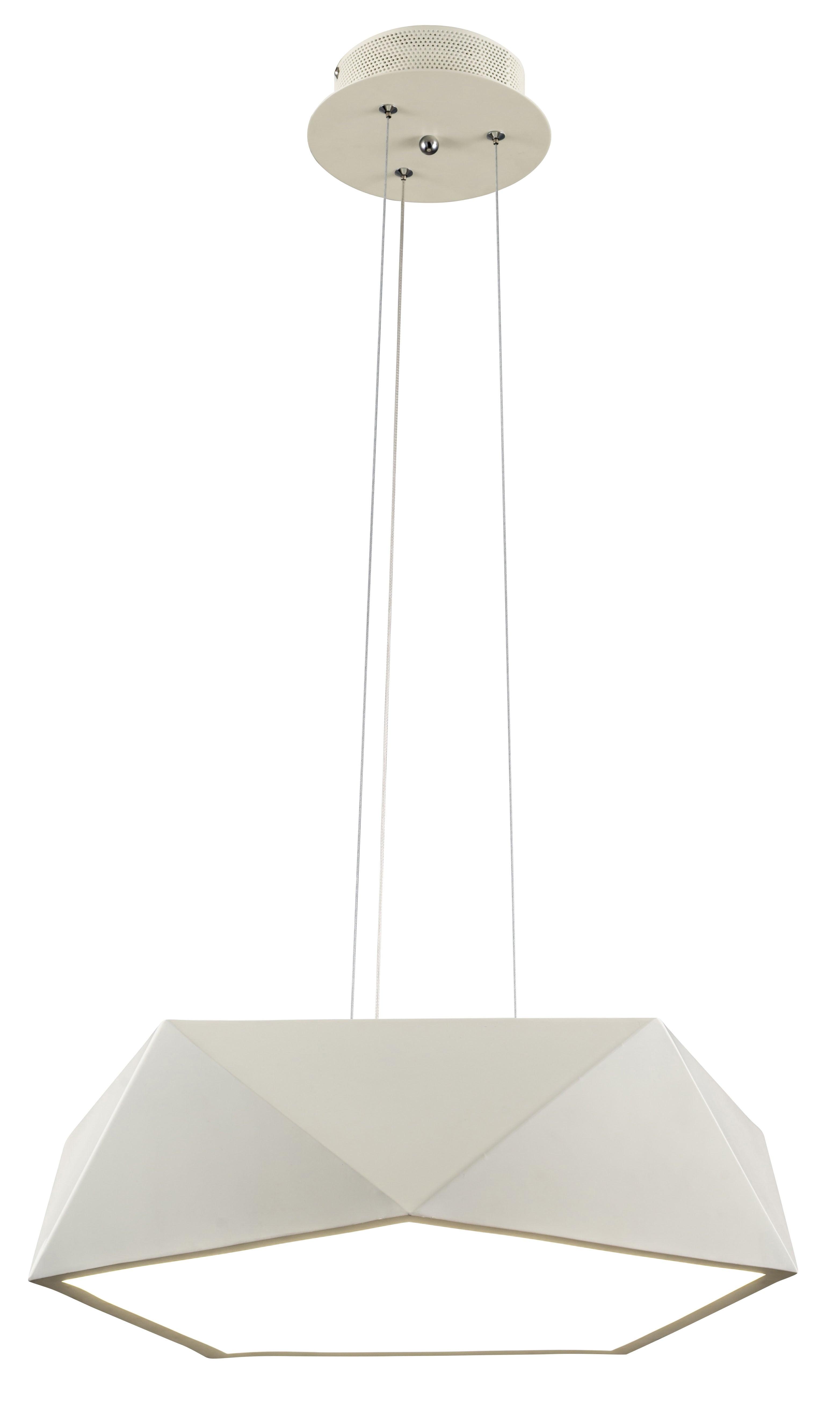 Loftowa Lampa wisząca Arca biały LED 24W